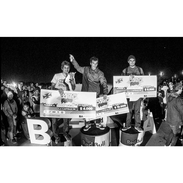 Felicitaciones Chinito otra vez podio en #BuenosAiresExtremo #PachaPark #VolcomSkate #TrueToThis