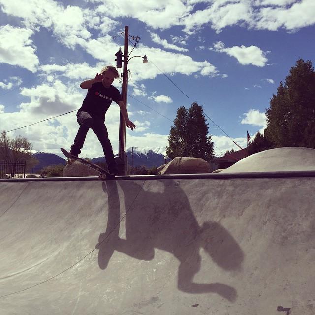 Tailslides in Buena Vista today! Headed to Durango