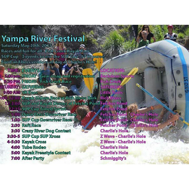 TODAY!  Come race, paddle, and enjoy some tasty riverside beverages at the Friends of the Yampa River Festival.  Free Hala Gear demos at Fetcher Pond from noon-3pm! #yampariverfestival #supracing #stand_up_paddle #supdemo