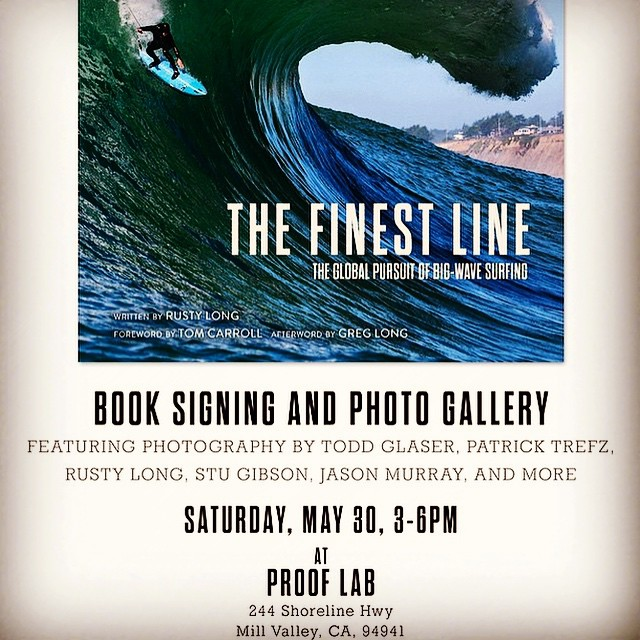 Stoked to catch up with @rustylong today - he's spent the last few years compiling this beast of a book and will be on hand this Saturday afternoon @prooflab in Marin for a book signing with food, drinks and full on fiesta. The gallery show that...