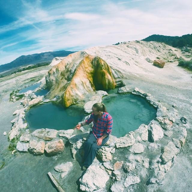 Eastern Sierra bliss #travertinehotsprings #highfivesathlete
