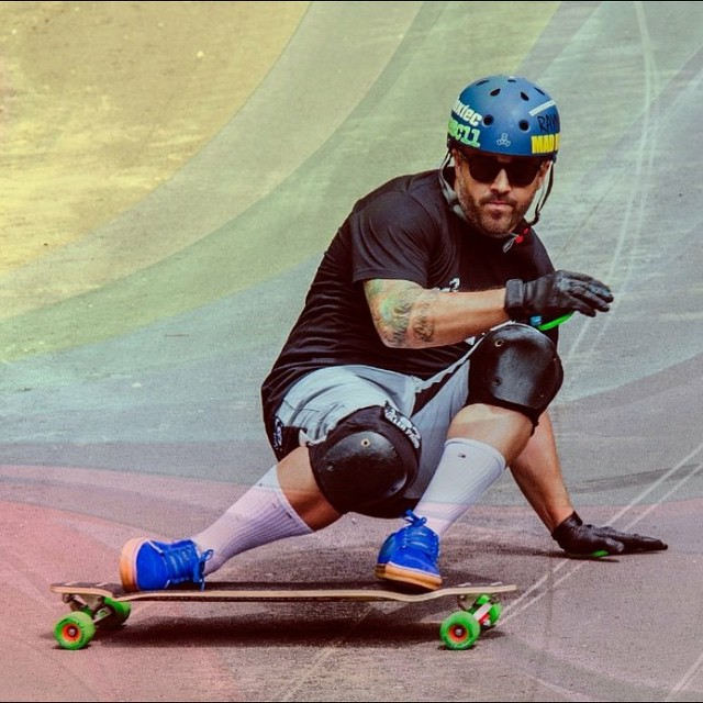 Just saw @douglasdalua profile pic in his #PushCultureApparel  crash shorts!!! So much respect for this man! #Brazil #downhill #skateboard #legend #crashpants