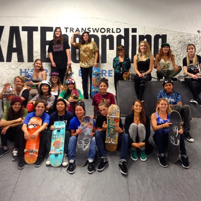 Solid EXPOSURE session at @transworldskate today! Thank you all for coming out to skate! AND THANK YOU TWS for hosting us! Edit coming soon!#ladiesofshred