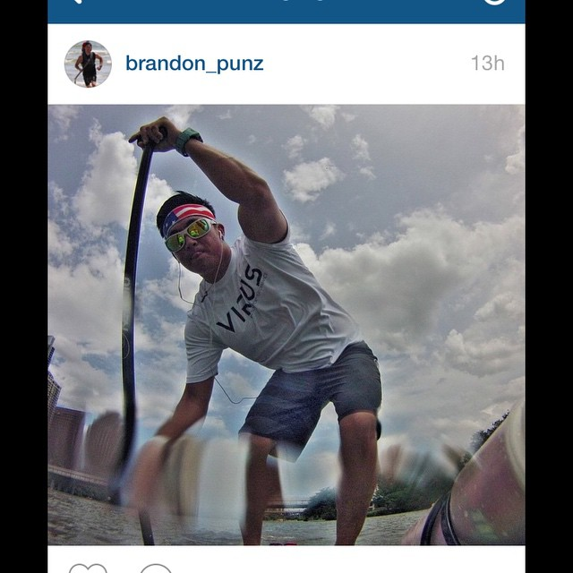 @Brandon_punz finding his balance on the SUP!  #revbalance #findyourbalance #balanceboards #madeinusa #train #ride #progression #corework #feetonboard #onewiththeboard #rideallday #paddleboarding #SUP