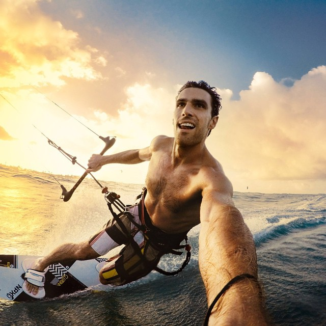 Photo of the Day! You can't describe the feeling of a good toeside turn at sunset out on the reef. You can only live it like @BradFol. #GoPro #KiteSurfing #sunset #PhotoOfTheDay  Show us your best moment by clicking the link in our profile.