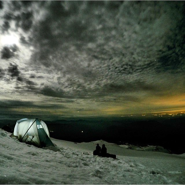 Glacier #CampVibes on #MtHood last night at 7500 ft.