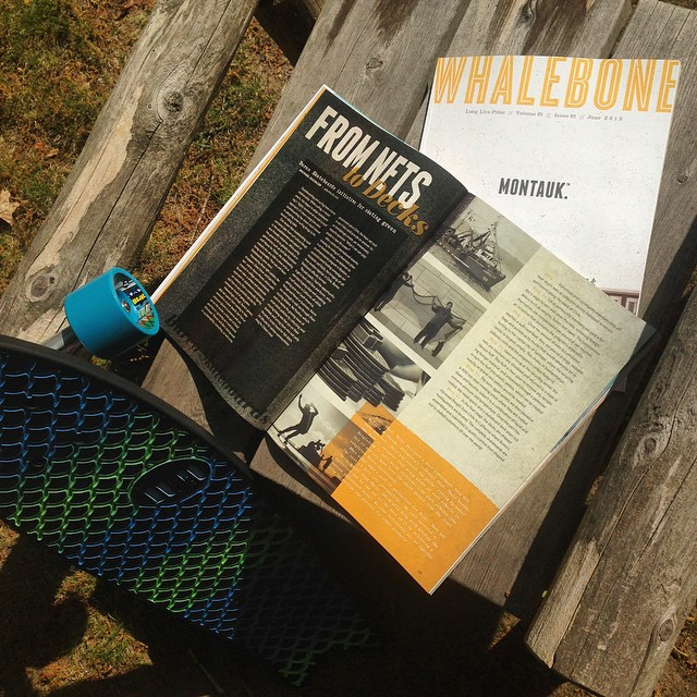 Monday morning read in the @whalebonemagazine. Mag looks great @whalebonecreative !