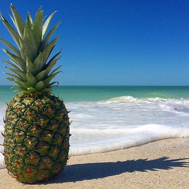 Don't worry be happy. Monday morning pineapple vibes