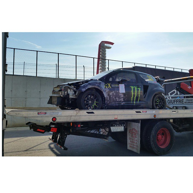 Two-time #XGames gold medalist @liamdoran's rally car has arrived in Austin, Texas!