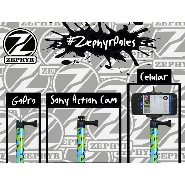 #ZephyrPole 3 en 1 !! Sirve para la GoPro, Sony Action Cam y Celular!