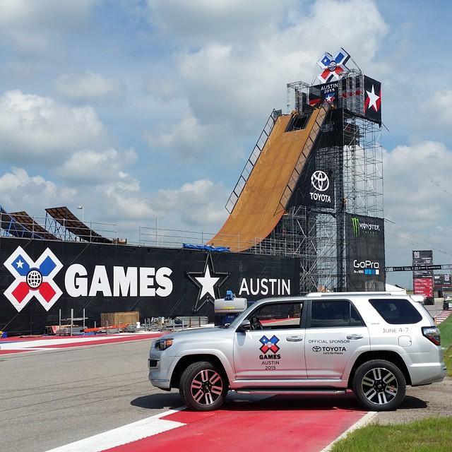 If you see a@toyotausa cruisin' around Austin, Texas, it's probably us!#XGames #TeamToyota