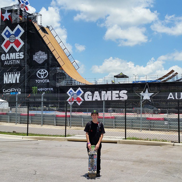 Defending Skateboard Big Air gold medalist @tomschaar has arrived at #XGames Austin!
