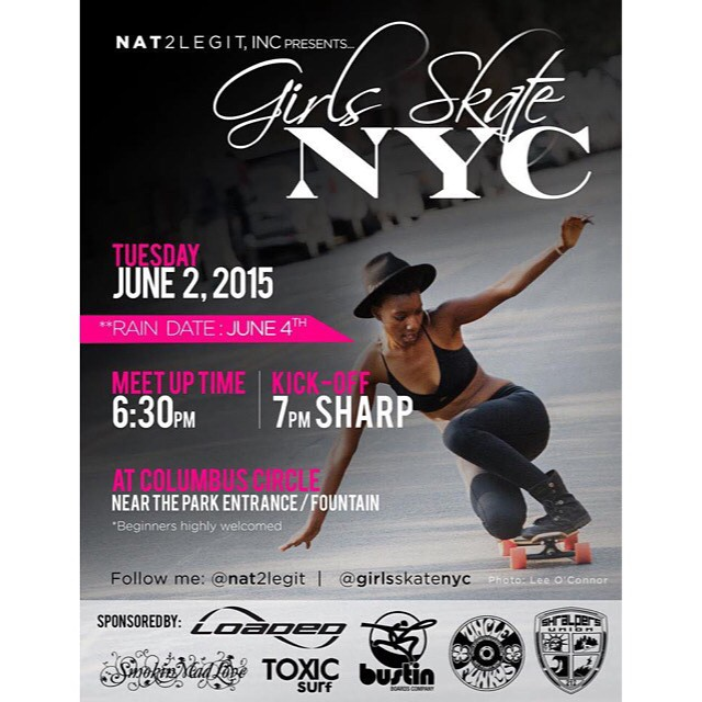 Join the ladies on THURSDAY in #NYC Beginners are welcome!!!! If you don't have a longboard let us know and one can be provided @girlsskatenyc #ridetrue
