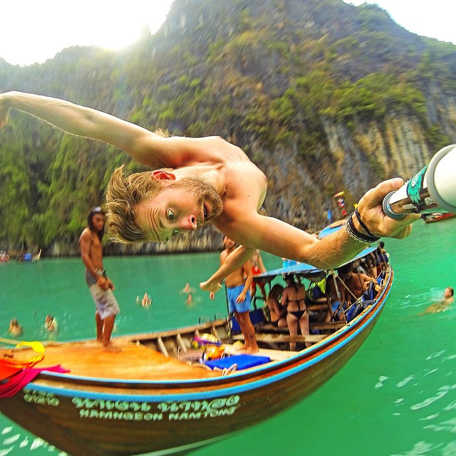 @christopher_redd throwing a backflip off the boat in Thailand. GoPro HERO4 | GoPole Reach #gopro #gopole #gopolereach #travel #thailand