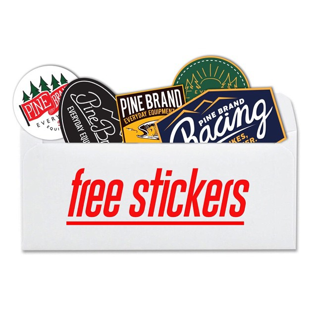 Sticker packs are now free with an email list sign up! Follow the link in our profile to sign up and up your sticker game! // #everydayequipment #pinebrand