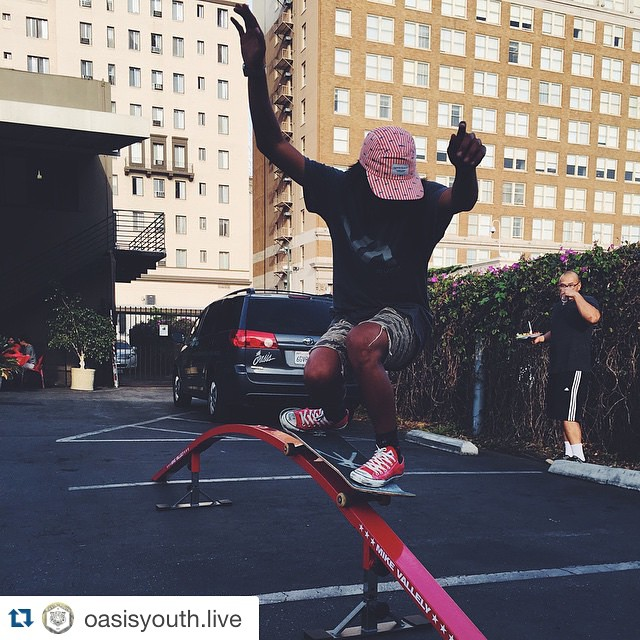 #Repost @oasisyouth.live  Last night was MAD real... We set up only about half the features of our skatepark including our 12ft long 4ft high #MINIRAMP - You are NOT gonna wanna miss our grand opening June 5th - 8PM @oasisofhollywood #Hollywood