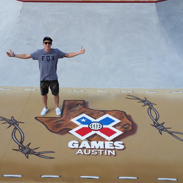 Defending BMX Park gold medalist and Austin native @chase_hawk has arrived at #XGames!