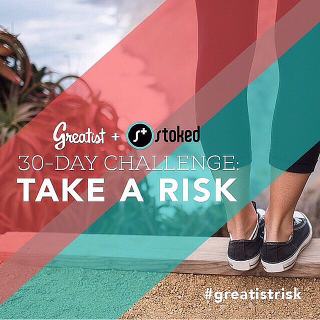 We are #stoked to partner with @greatist this month for the 30 day #challenge to take more risks! Join us and try new things everyday in June. Share your #risks with the tag #greatistrisk! #trynewthings #experiencemore #experiences #determination...
