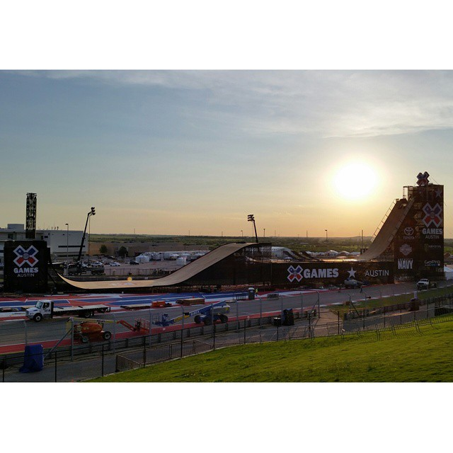 Our iconic 85-foot-tall Big Air ramp is alive! #XGames