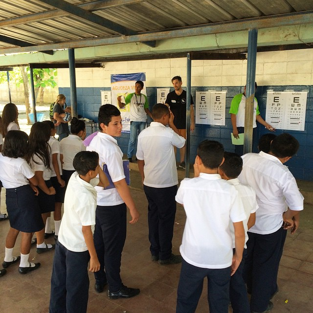 Today we went to Centro Escolar de San Miguel in Sam Salvador and tested over 800 students to fulfill eyewear needs thanks to @ventanitasdeluz & @helpintl // more info to come about the #ElSalvadorProject