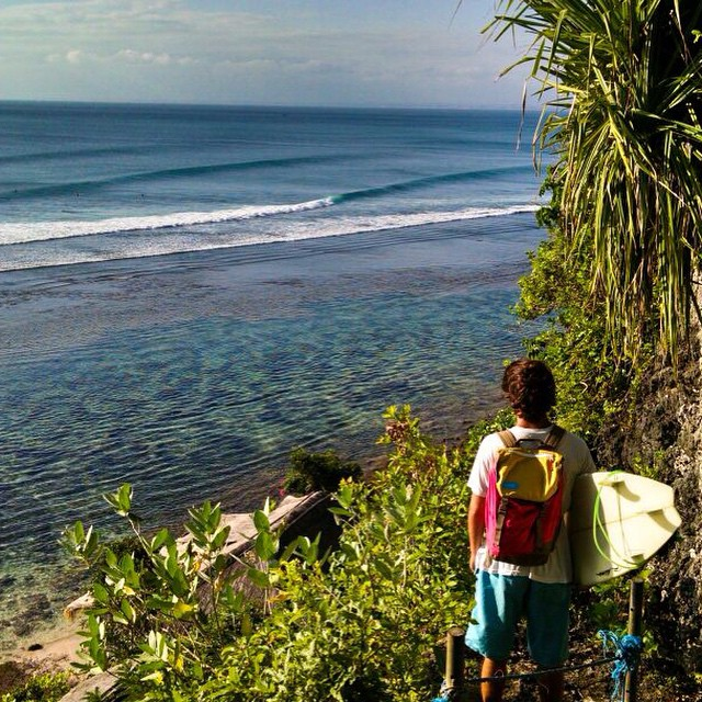 "#worldtour series of the nomad #discoverpack // @brankovuko : ""#Bali we are not afraid of your reefs. Well, just a bit. """