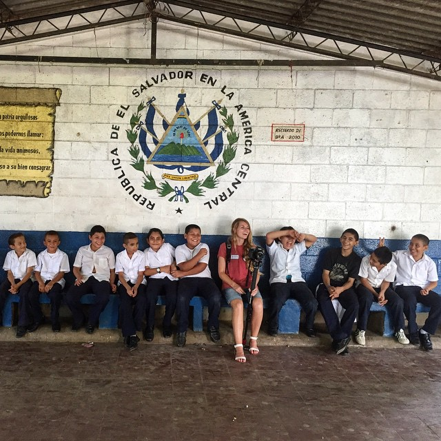 We got teach the importance of taking care of your eyes and took some time to play games with all the students. @helpintl @ventanitasdeluz #elsalvadorproject