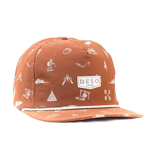 The @desolationsupply Wilder Ness Cap in rust. Get wilder. _ #desolationsupply #itswayoutthere #DESO #madeinCA