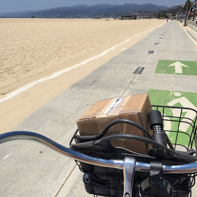 LA traffic not a problem #California #LA #bikepath