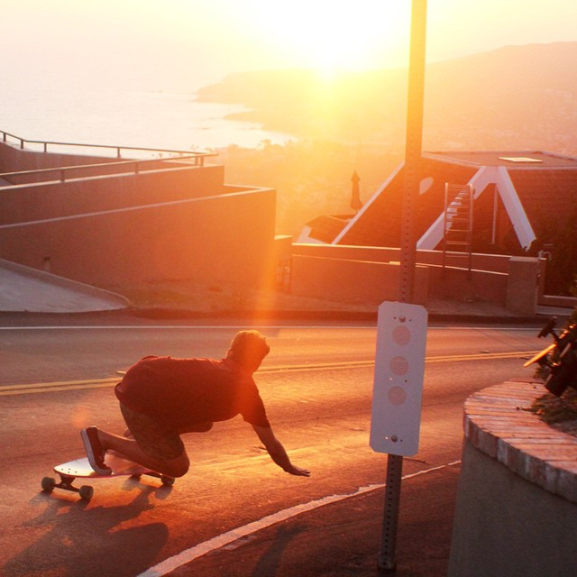 Golden Hour with @emancipationist bombin' some hills in #lagunabeach