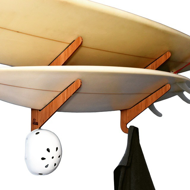 All surfers love their quiver but real surfers treat it right.  #surfboardracks #surf #surfing #boardrack #surfboardrack #boardracks #bamboo #racks #rack #nicerack #ocean #waves #surfer #quiver #shortboard #treat #treatyourself #respect #love #summer