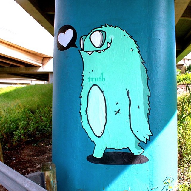 @mikejohnstonartist • • #truth #atx #austintx #texas #streetart #texas #spratx