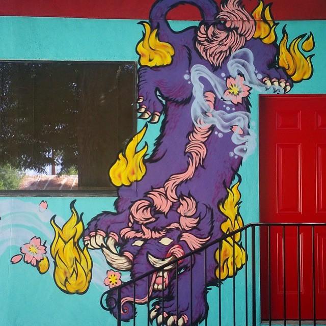 @roshi_k • • #atx #austintx #texas #tx #spratx #roshik #streetart #mural #art