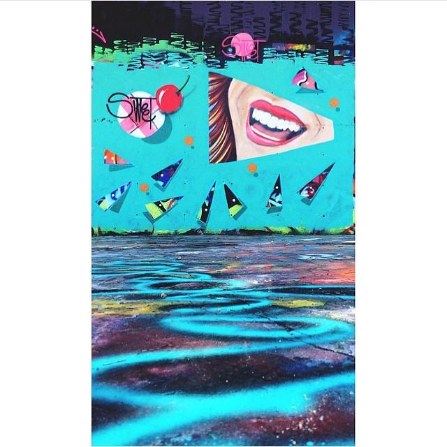 @400mlbakery • • #atx #austintx #texas #tx #spratx #mural #sweet #art