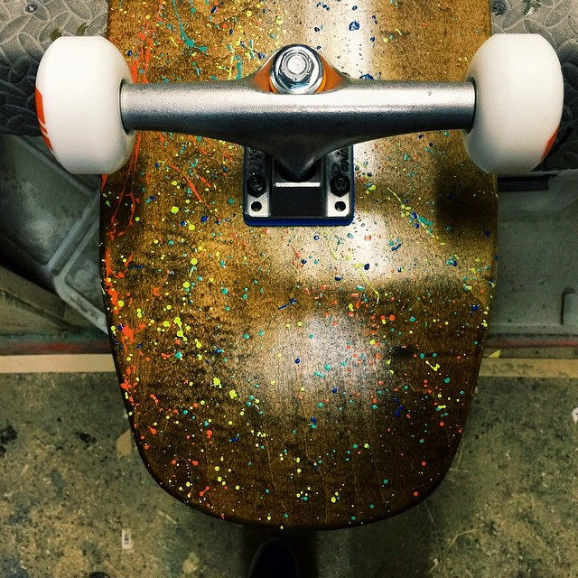 Special board for a complex and generous dude. #handmadeskateboard #Nashville
