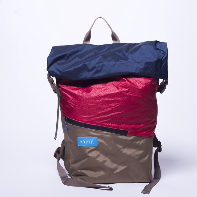 Our popular roll top - the #tourpack // #fromsailstobags . Water resistant backpack with inner laptop sleeve, external sealed packet and many sailing stories. 1 of 1 - online only.