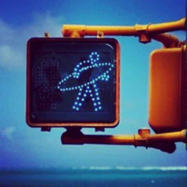Why did the surfer cross the road?