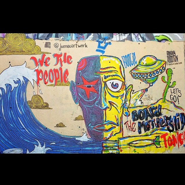 Collaboration is key.. @jomauartwork | @random.direction • • #atx #austintx #texas #tx #spratx #mural #art #collaboration