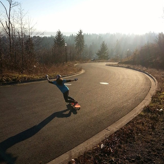 @carmen_sutra getting loose in her home zone--enjoying the sunny winter! PC: @fillbackside