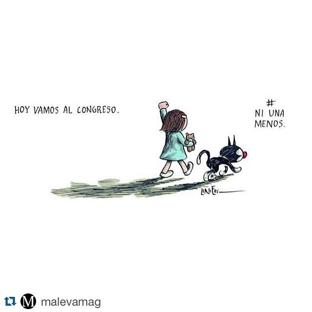 #Repost @malevamag with @repostapp. ・・・ El mensaje de @porliniers. #NiUnaMenos
