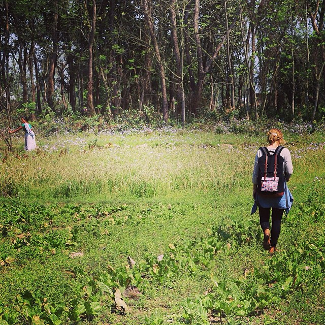 KTM Valley Rucksack out for the day. Checking out a community organic farm in Southern Nepal. #organic #natural #eco #backpack #handwoven #wanderlust #textiles #consumeconsciously #connectglobally #estwst