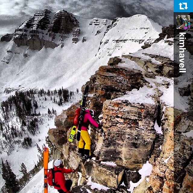 We ❤️ women who go big in the #mountains and live life to the fullest. #skiing #sisterswhoshred. #regram @kimhavell