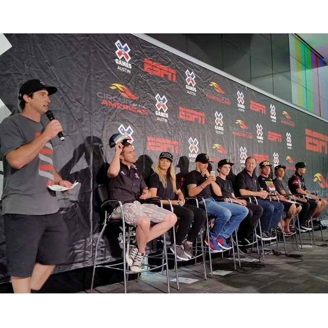 The 2015 #XGames Austin press conference is underway!  We're live on Periscope.