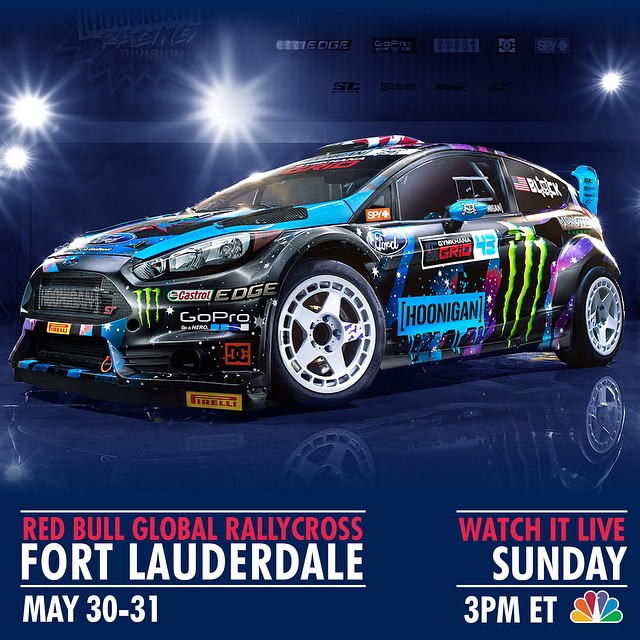 Watch the very first #GlobalRallycross race of 2015 LIVE today at 3pm EST on NBC!