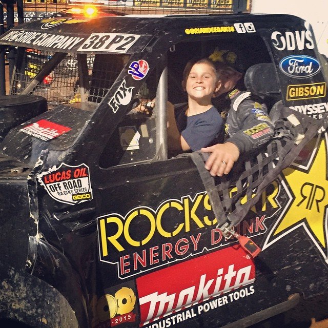 #TBT to last @lucasoiloffroad race last month in Phoenix. @dangerboydeegan driving the Pro2 to the podium ✊