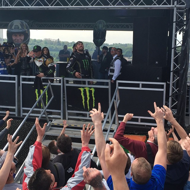 Tough day today, but it's still always good to see so many fans out! #BritishBomb #LiamDoran #WorldRX #Rallycross