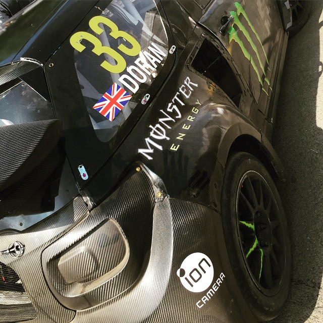 Round 4 of @fiaworldrx at Lydden Hill. Morning warm up next! Who's coming down? #BritishBomb #LiamDoran #WorldRX #Rallycross