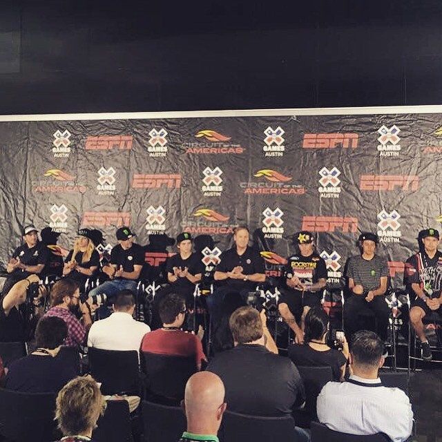 2015 @xgames press conference underway