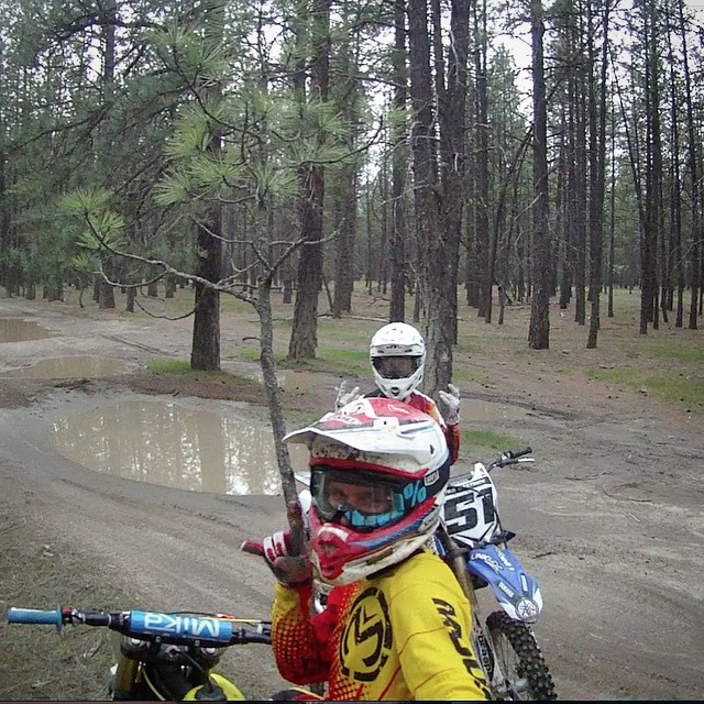 Washington has some of the coolest place to ride! @wolftrainingacademy @ehastings51 #washington #moto #motocross #freeride #trails #woods #missit #atifamily @aticlothing