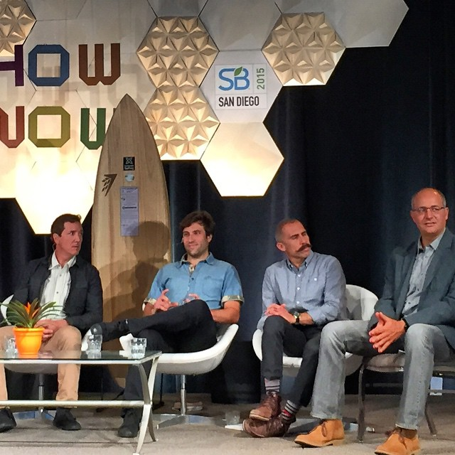 "Loud capping was observed at the end of our ""How to Intervene in a System"" panel discussion this morning on the mainstage the @sustainablebrands 15 conference, so I guess we were at hit ! --- Huge thanks to our partners Derek Sabori @volcomsurf , Kyle..."