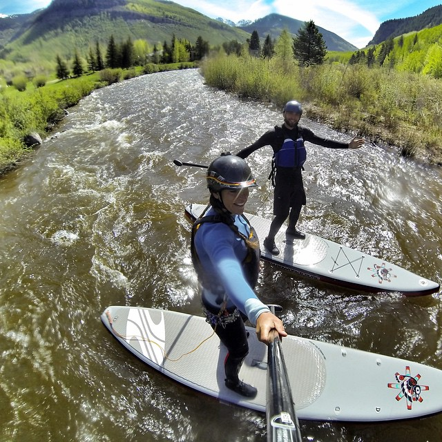 #teamboardworks training for the downriver sup sprint at the @mountaingamesvail in Vail, Co. @boardworkssurfsup #welivewater @bradley_hilton #gopromtngames